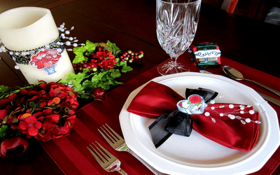 deco table st valentin